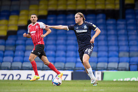 Kyle Taylor, Southend United looks for a team mate to move forward during Southend United vs Cheltenham Town, Sky Bet EFL League 2 Football at Roots Hall on 17th October 2020