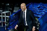 Real Madrid´s new coach Zinedine Zidane before 2015/16 La Liga match between Real Madrid and Deportivo de la Coruna at Santiago Bernabeu stadium in Madrid, Spain. January 09, 2015. (ALTERPHOTOS/Victor Blanco)