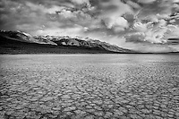 Alvord Desert and Steens Mountain with storm clouds. Harney County, Oregon