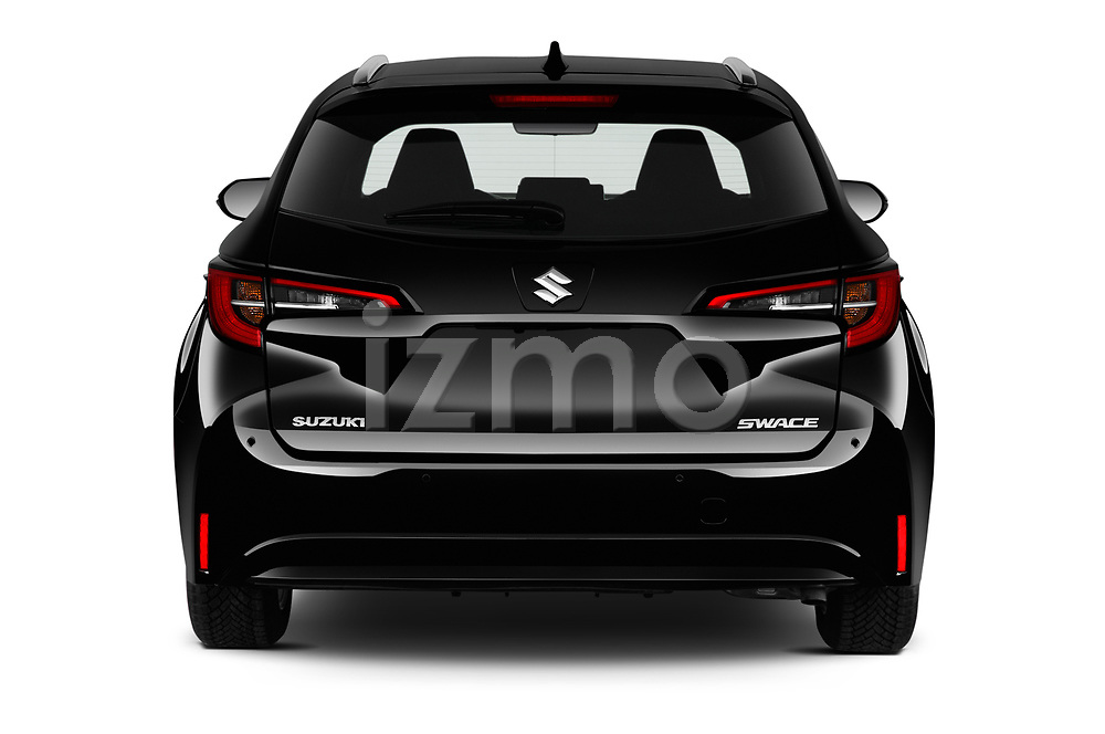 Straight rear view of 2021 Suzuki Swace GLX 5 Door Wagon Rear View  stock images