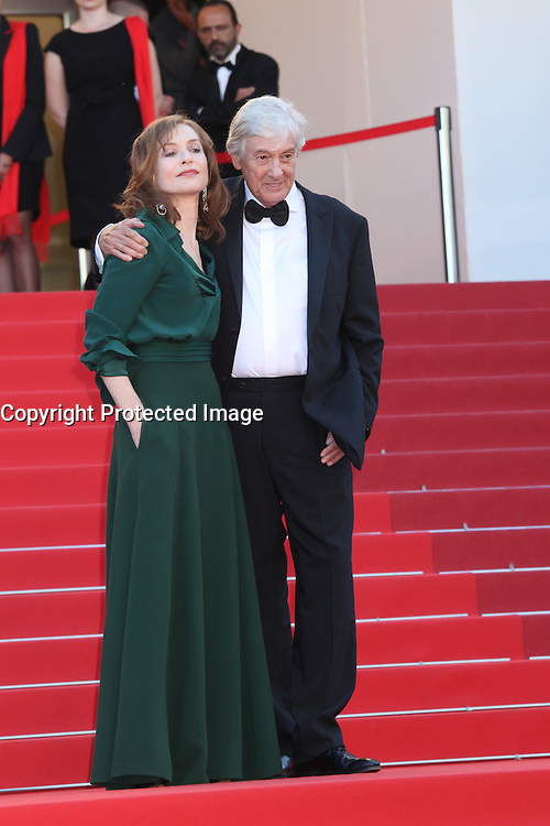 ISABELLE HUPPERT AND DIRECTOR PAUL VERHOEVEN - RED CARPET OF THE FILM 'ELLE' AT THE 69TH FESTIVAL OF CANNES 2016