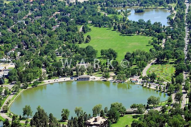 Aerial Denver, Colorado. Washington Park