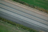 aerial photograph Union Pacific railway tracks, Nebraska