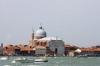 Veduta dal mare della Chiesa del Redentore a Venezia<br /> View from the sea of the Redentore church in Venice.<br /> UPDATE IMAGES PRESS/Riccardo De Luca
