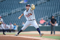 ***Temporary Unedited Reference File***Mississippi Braves starting pitcher Rob Whalen (38) during a game against the Jacksonville Suns on May 1, 2016 at The Baseball Grounds in Jacksonville, Florida.  Jacksonville defeated Mississippi 3-1.  (Mike Janes/Four Seam Images)