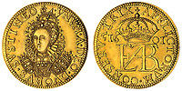 BNPS.co.uk (01202 558833)<br /> Pic: Spink/BNPS<br /> <br /> Pictured: Elizabeth I, Pattern Groat, 1601, in gold with an estimate of £15,000, sold for £480,000.<br /> <br /> The family of a late steeplejack are celebrating today after his incredible collection of rare coins sold for a whopping £2.8m.<br /> <br /> The 52 coins from the Tudor and Stuart periods were amassed by prolific collector Horace Hird over 50 years.<br /> <br /> He died in 1973 and it had been presumed he had sold all his coins while he was still alive. But a descendant found dozens of them still wrapped with their paperwork dating back to the 1960s.