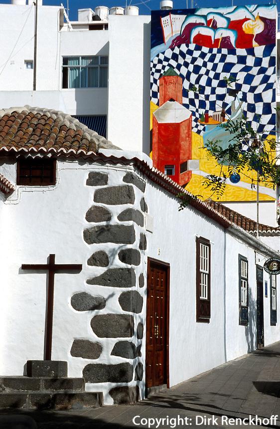 Spanien, Kanarische Inseln, La Palma, in Los Llanos de Aridane, Wandbild (Mural)