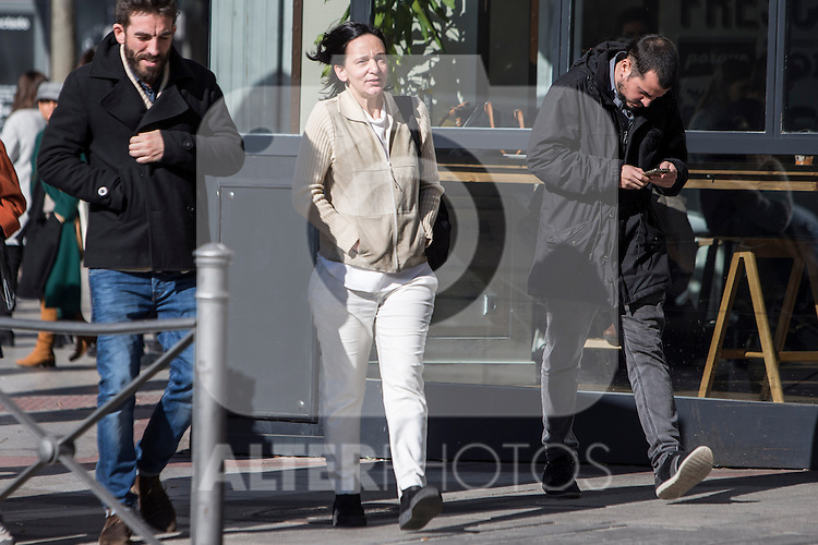 Spanish Podemos member Carolina Bescansa after the meeting between members of the canopy of Podemos to seek unity between the different proposals in Madrid. Spain. January 25th 2017. (ALTERPHOTOS/Rodrigo Jimenez)