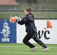 20160405  - Eibergen , NETHERLANDS : Belarussian Svetlana Korbut pictured during the soccer match between the women under 19 teams of Finland and Belarus , on the first matchday in group 3 of the UEFA Women Under19 Elite rounds in Eibergen , Netherlands. Tuesday 5 th April 2016 . PHOTO DIRK VUYLSTEKE / Sportpix.be