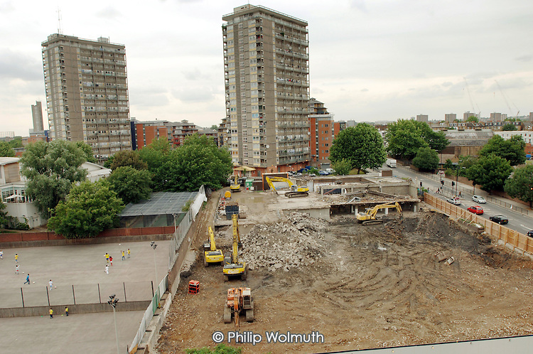 Site of new Westminster Academy, on the Harrow Road.