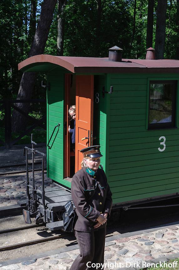 Eisenbahn-Museum in Ventspils, Lettland, Europa