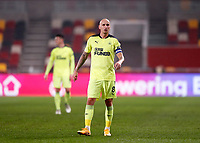22nd December 2020; Brentford Community Stadium, London, England; English Football League Cup Football, Carabao Cup, Brentford FC versus Newcastle United; Jonjo Shelvey of Newcastle United