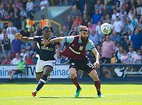 Aston Villa Mile Jedinak and Millwall's Fred Onyedinma during the Sky Bet Championship match between Millwall and Aston Villa at The Den, London, England on 6 May 2018. Photo by Andrew Aleksiejczuk / PRiME Media Images.