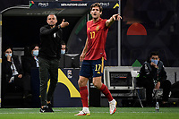 Luis Enrique coach of Spain and Marcos Alonso of Spain during the Uefa Nations League semi-final football match between Italy and Spain at San Siro stadium in Milano (Italy), October 6th, 2021. Photo Andrea Staccioli / Insidefoto
