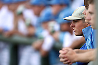 Trevor Bauer #47 of the UCLA Bruins watches game against the Oregon State Beavers at Jackie Robinson Stadium in Los Angeles,California on April 29, 2011. Photo by Larry Goren/Four Seam Images