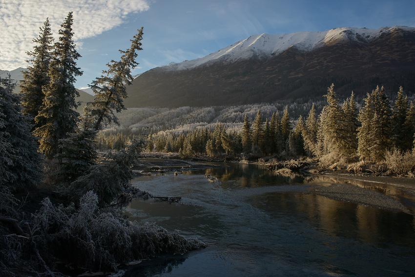 November frost in Eagle River, Alaska. Photo by James R. Evans.