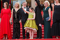 Kathleen Kennedy, Kate Capshaw, Steven Spielberg, Ruby Barnhill, Mark Rylance, Claire van Kampen - CANNES 2016 - MONTEE DU FILM 'THE BFG (LE BON GROS GEANT)