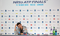Nitto ATP World Tour Finals London - Media Day - 09.11.2018