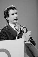 FILE PHOTO : Guy Bertrand<br /> , Hommage a René Levesque, le 27 septembre 1985<br /> <br /> PHOTO : Denis Alix -  Agence Quebec Presse