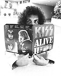 Kiss 1978 Gene Simmons, at this time you could not photograph Kiss without makeup..© Chris Walter.