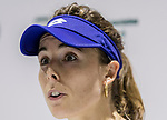 Alize Cornet of France talks to media during the singles first round match at the WTA Prudential Hong Kong Tennis Open 2018 at the Victoria Park Tennis Stadium on 08 October 2018 in Hong Kong, Hong Kong. Photo by Yu Chun Christopher Wong / Power Sport Images
