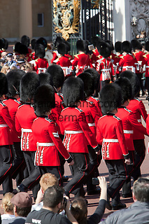 United Kingdom, London: Welsh Guards taking part in Changing of the Guard at Buckingham Palace | Grossbritannien, England, London: Welsh Guards beim Changing of the Guards am Buckingham Palace