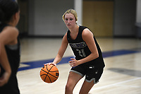 Fayetteville's Loren Lindsey (21) dribbles, Thursday, June 10, 2021 during a basketball game at Rogers High School in Rogers. Check out nwaonline.com/210611Daily/ for today's photo gallery. <br /> (NWA Democrat-Gazette/Charlie Kaijo)