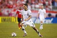 7 June 2011: USA Men's National Team forward Clint Dempsey (8) dribbles the ball during the CONCACAF soccer match between USA and Canada at Ford Field Detroit, Michigan. USA won 2-0.