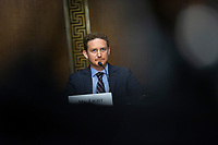 David Light, Founder and CEO of Valisure, listens during the United States Senate Committee on Finance hearing regarding the inspection process of foreign drug manufacturing on Capitol Hill in Washington D.C., U.S., on Tuesday, June 2, 2020.  Credit: Stefani Reynolds / CNP/AdMedia