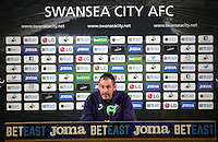 Head Coach Paul Clement during the Swansea City Press Conference at The Liberty Stadium, Swansea, Wales, UK. Thursday 09 February 2017