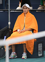 MIAMI GARDENS, FL - APRIL 03: Bianca Andreescu Vs Ashleigh Barty during the Women's finals at the 2021Miami Open at Hard Rock Stadium, Ashleigh Barty defeats Bianca Andreescu 6-3, 4-0 ret on April 3, 2021 in Miami Gardens, Florida. <br /> CAP/MPI43<br /> ©MPI43/Capital Pictures