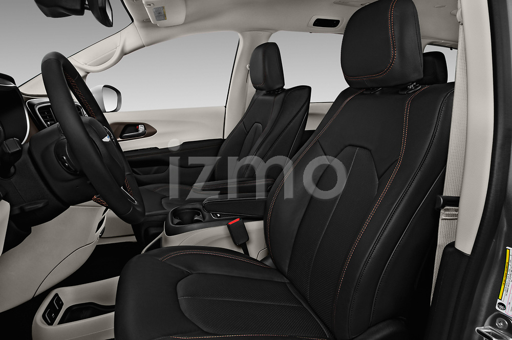 Front seat view of a 2018 Chrysler Pacifica Touring-L Plus 5 Door Mini Van front seat car photos