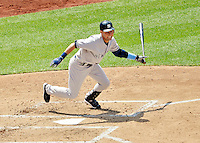 17 June 2012: New York Yankees shortstop Derek Jeter in action against the Washington Nationals at Nationals Park in Washington, DC. The Yankees defeated the Nationals 4-1 to sweep their 3-game series. Mandatory Credit: Ed Wolfstein Photo