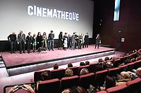 Jerome SEYDOUX, Xavier BEAUVOIS, Nathalie BAYE, Mathilde VISEUX-ELY, Iris BRY, Caroline CHAMPETIER, Sylvie PIALAT et l'equipe du film - Avant-Premiere du film LES GARDIENNES de Xavier Beauvois - La Cinematheque francaise - 1 decembre 2017 - Paris - France # AVANT-PREMIERE 'LES GARDIENNES' A PARIS