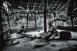 Muria women husk rice. Sukma, Chattisgarh, India. Arindam Mukherjee