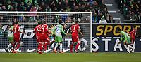 17.02.2018, Football 1. Bundesliga 2017/2018, 23.  match day, VfL Wolfsburg - FC Bayern Muenchen, in Volkswagen Arena Wolfsburg. goal  1:0 *** Local Caption *** © pixathlon<br /> <br /> Contact: +49-40-22 63 02 60 , info@pixathlon.de
