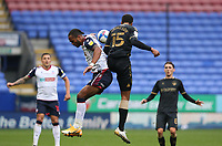 Bolton Wanderers' Nathan Delfouneso battles with Oldham Athletic's Kyle Jameson<br /> <br /> Photographer Stephen White/CameraSport<br /> <br /> The EFL Sky Bet League Two - Bolton Wanderers v Oldham Athletic - Saturday 17th October 2020 - University of Bolton Stadium - Bolton<br /> <br /> World Copyright © 2020 CameraSport. All rights reserved. 43 Linden Ave. Countesthorpe. Leicester. England. LE8 5PG - Tel: +44 (0) 116 277 4147 - admin@camerasport.com - www.camerasport.com