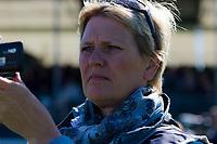 AUS-Debbie Higgs from An Eventful Life AUSTRALIA gets set to capture AUS-Megan Jones: 2012 GBR-Land Rover Burghley International Horse Trial: FRIDAY DRESSAGE - INTERIM-