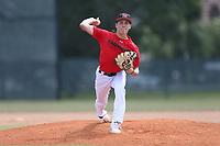 Jackson Nezuh (60) of TNXL Academy in Saint Cloud, Florida during the Under Armour Baseball Factory National Showcase, Florida, presented by Baseball Factory on June 13, 2018 the Joe DiMaggio Sports Complex in Clearwater, Florida.  (Nathan Ray/Four Seam Images)