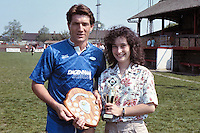 Perry Coney of Barking FC receives the player of the season award prior to a 6-1 defeat at Hayes - 05/05/90 - MANDATORY CREDIT: Gavin Ellis/TGSPHOTO - Self billing applies where appropriate - Tel: 0845 094 6026