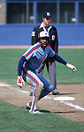 FLUSHING, NY - UNDATED:  Andre Dawson #10 of the Montreal Expos leads off at third base during a Major League Baseball game circa 1976-1986 at Shea Stadium in Flushing, New York.  (Photo by Rich Pilling)