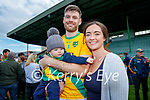 John B, Killian and Aine O'Halloran pictured on Sunday at the Kerry Senior Hurling Championship Final in Austin Stack Park.
