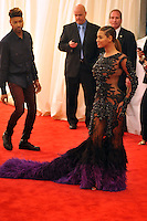 Beyonce at the 'Schiaparelli And Prada: Impossible Conversations' Costume Institute Gala at the Metropolitan Museum of Art on May 7, 2012 in New York City. ©mpi03/MediaPunch Inc.