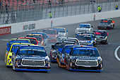 NASCAR Camping World Truck Series<br /> Las Vegas 350<br /> Las Vegas Motor Speedway, Las Vegas, NV USA<br /> Saturday 30 September 2017<br /> Ben Rhodes, Safelite Auto Glass Toyota Tundra and Christopher Bell, DC Solar Toyota Tundra<br /> World Copyright: Russell LaBounty<br /> LAT Images
