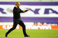 Steve Cooper Head Coach of Swansea City celebrates at full time during the Sky Bet Championship match between Reading and Swansea City at the Madejski Stadium in Reading, England, UK. Wednesday 22 July 2020.