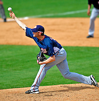 16 March 2009: Washington Nationals' pitcher Josh Towers on the mound during a Spring Training game against the Florida Marlins at Roger Dean Stadium in Jupiter, Florida. The Nationals defeated the Marlins 3-1 in the Grapefruit League matchup. Mandatory Photo Credit: Ed Wolfstein Photo