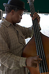 Sugar Bear playing bass at the French Market Cafe in New Orleans, LA - April 2006