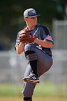 Calvin Ziegler (16) during the WWBA World Championship at Terry Park on October 8, 2020 in Fort Myers, Florida.  Calvin Ziegler, a resident of Heidelberg, Ontario, Californianada who attends St. Mary's High School, is committed to Auburn.  (Mike Janes/Four Seam Images)