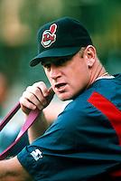 Matt Williams of the Cleveland Indians during a game at Anaheim Stadium in Anaheim, California during the 1997 season.(Larry Goren/Four Seam Images)