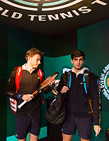 Rotterdam, The Netherlands, 18 Februari, 2018, ABNAMRO World Tennis Tournament, Ahoy, Doubles final, Pierre-Hugues Herbert (FRA) / Nicolas Mahut (FRA), Oliver Marach (AUT) / Mate Pavic (CRO)<br /> <br /> Photo: www.tennisimages.com